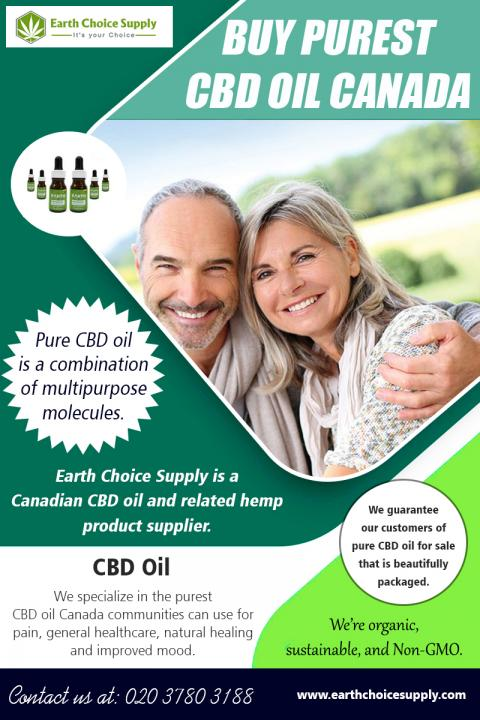 Buy Purest CBD Oil Canada | Call - 416-922-7238 | earthchoicesupply.com